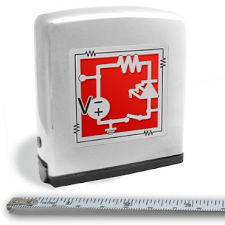 engraved electrical engineering tape measure