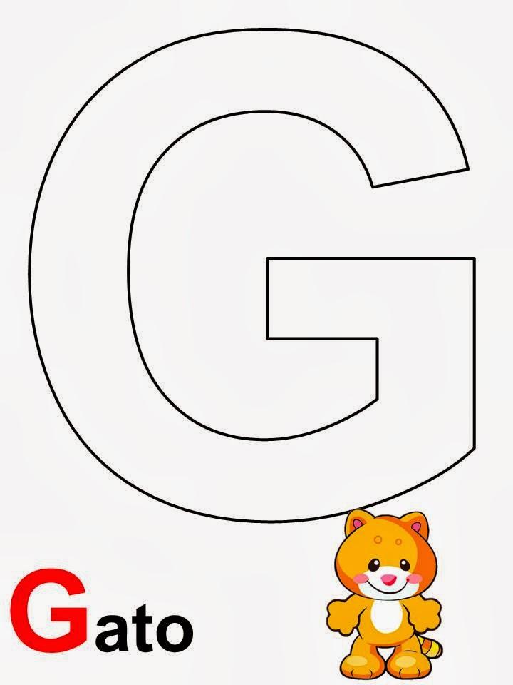 Alfabeto letra G Gato