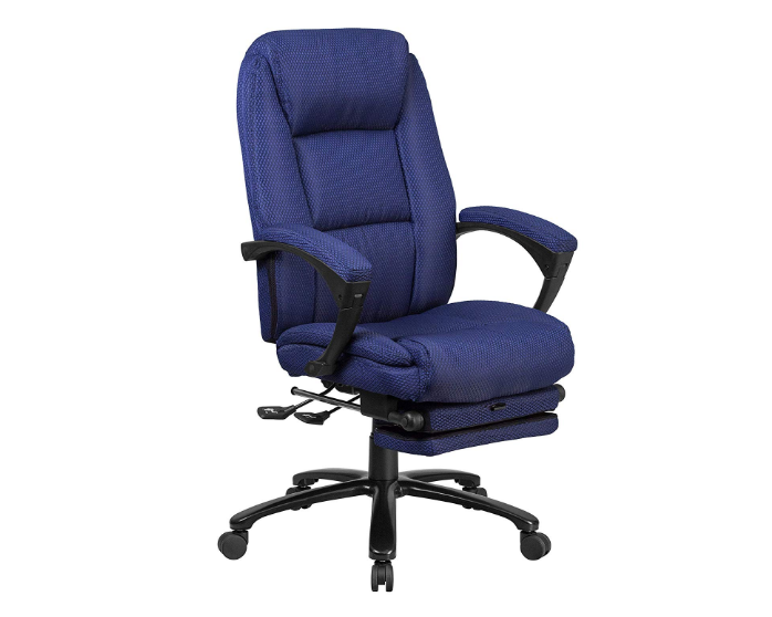 A Line Furniture Multifunction Reclining Navy Fabric Excessive Back Executive Swivel Office Chair