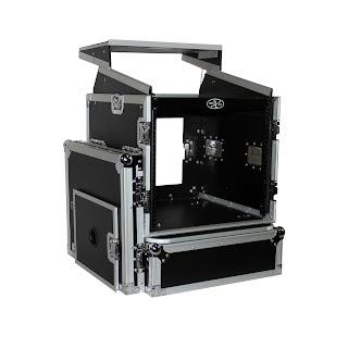 pro x cases prox t 10mrlt 10 space amp 10 slanted top 10u 10u mixer dj combo rack mount flight. Black Bedroom Furniture Sets. Home Design Ideas