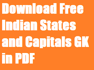 Download Free Indian States and Capitals GK in PDF