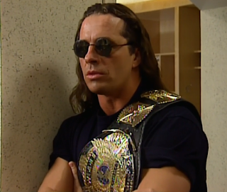 WWE / WWF - WRESTLEMANIA 12 - WWF Champion Bret Hart gave a backstage promo before facing Shawn Michaels