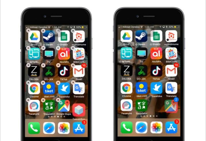 Cara memindahkan beberapa aplikasi sekaligus di iPhone 2