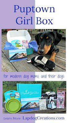Puptown Girl dog mom subscription box doberman rescue