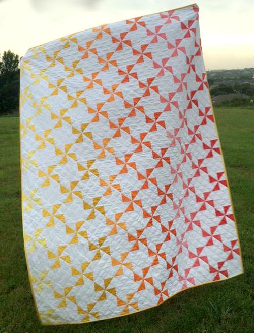 Ombre Pinwheel Quilt - Tutorial