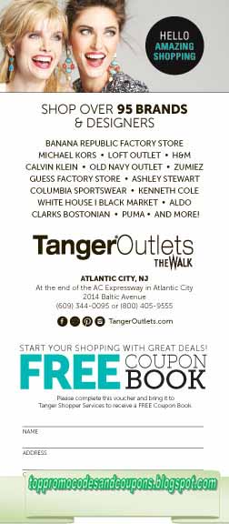 Free Promo Codes And Coupons 2020 Tanger Outlet Coupons