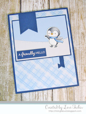 A Friendly Hello card-designed by Lori Tecler/Inking Aloud-stamps from Hello Bluebird