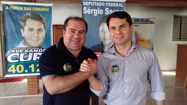 Visita do Deputado Alexandre Curi em Borrazopolis