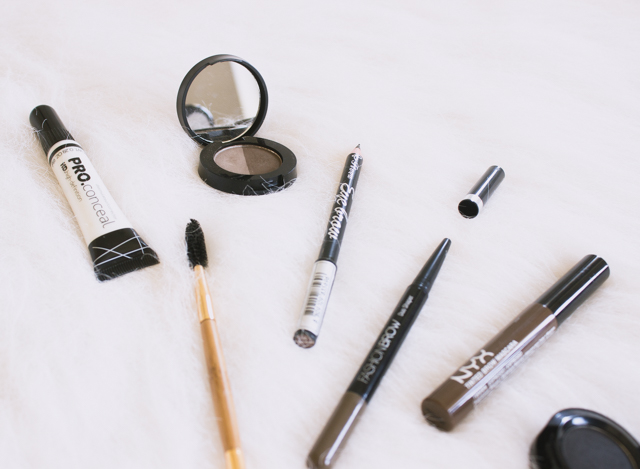 Favourite-brow-products-from-Freedom-Makeup-NYX-Maybelline-LA Girl-Konad