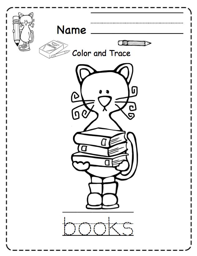 Toddler Cool Cat at School ~ Preschool Printables