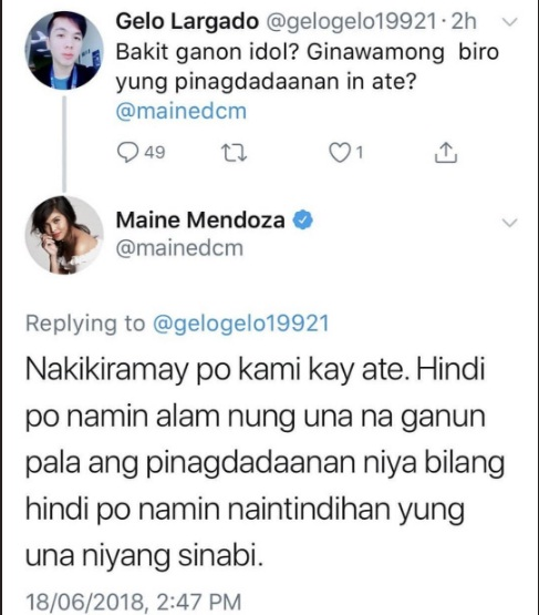 "Maine explains herself after being called ""insensitive"" towards 'Sugod Bahay' winner"