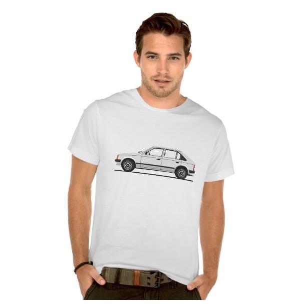Opel Kadett D t-shirts Vauxhall Astra Mk1