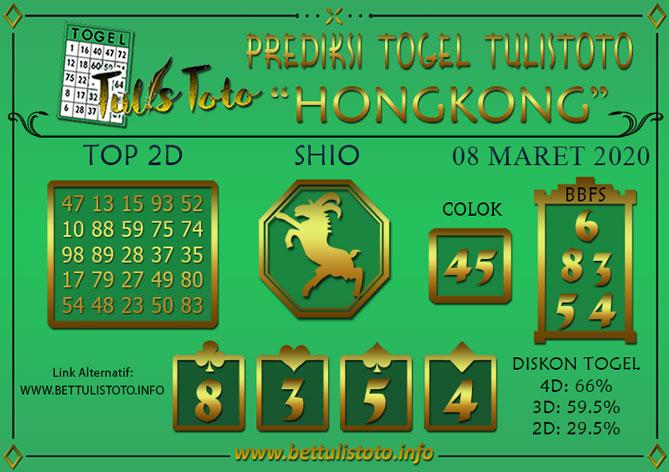 Prediksi Togel HONGKONG TULISTOTO 08 MARET 2020