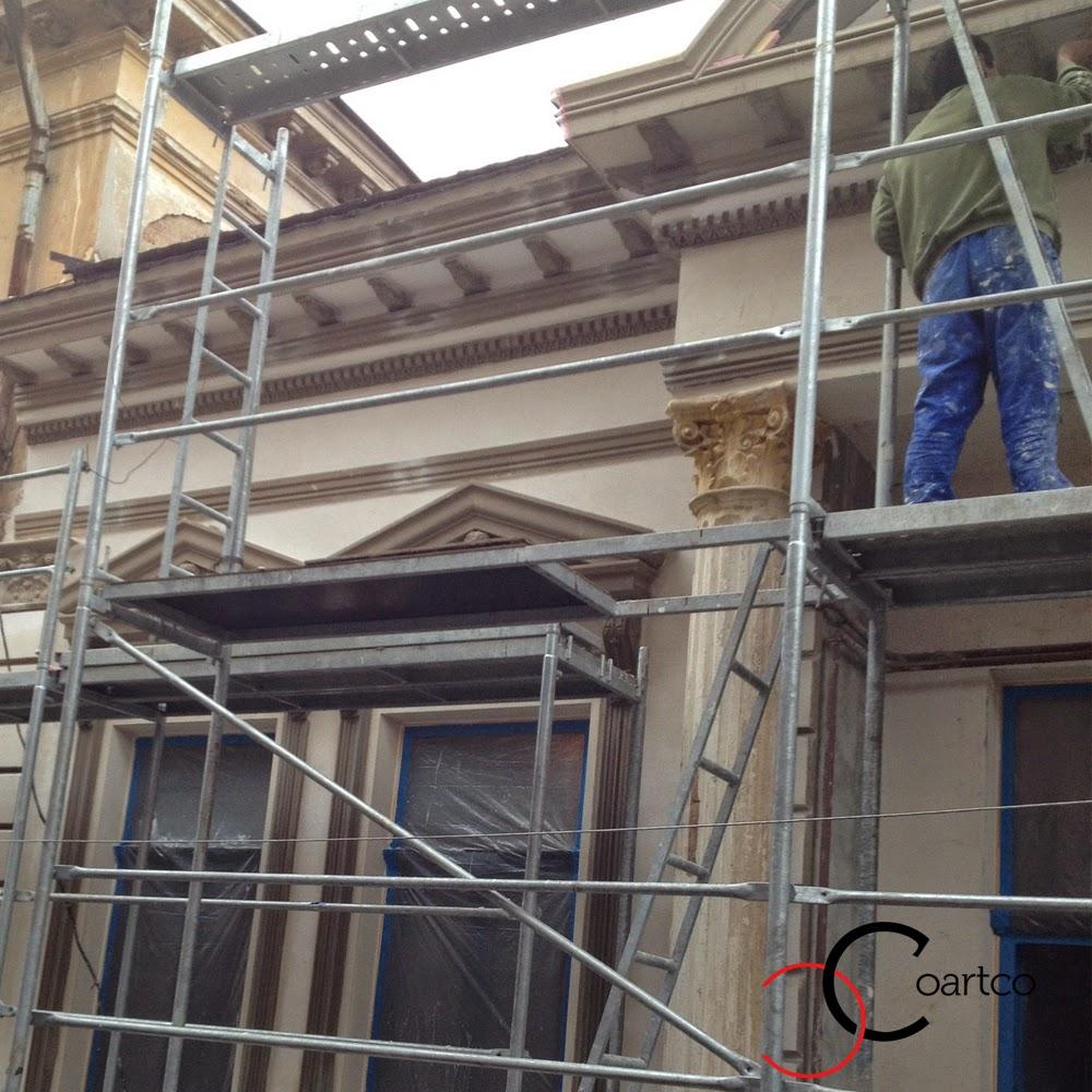 reabilitare fatada casa interbelica cu ornamente polistiren, profile decorative