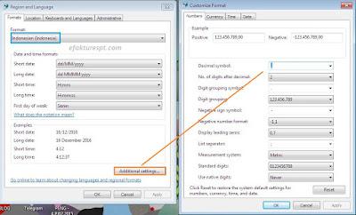 Cara setting format tanggal tidak sesuai di region and language