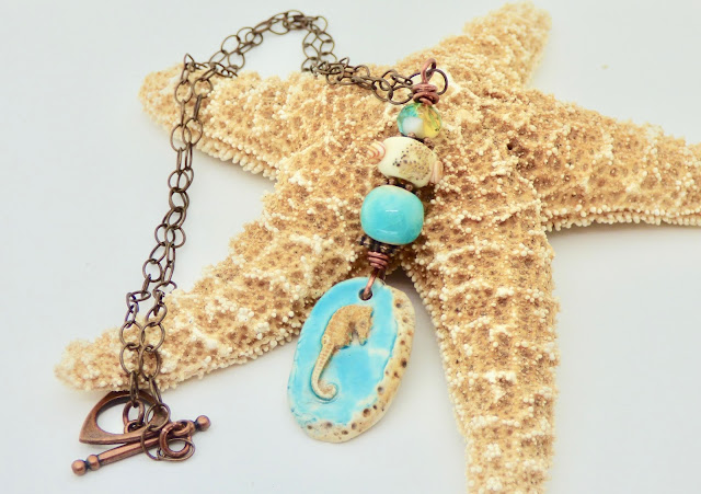 Seahorse Necklace by BayMoonDesign