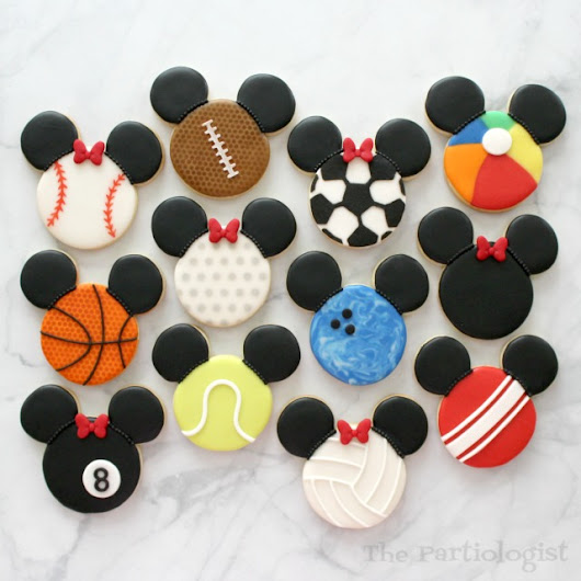 Disney Themed Sport Ball Cookies!