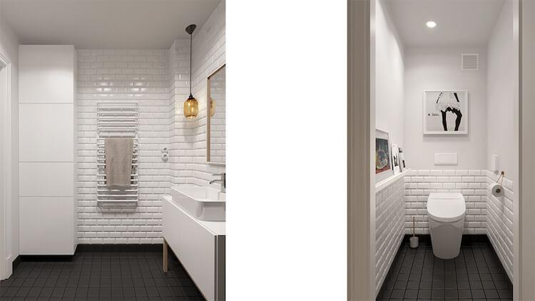 Reforma de un pequeño apartamento, baños