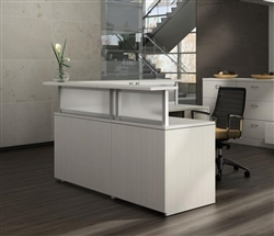 contemporary reception desk