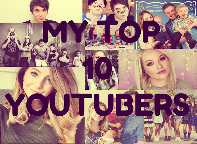 My top 10 favourite youtubers!