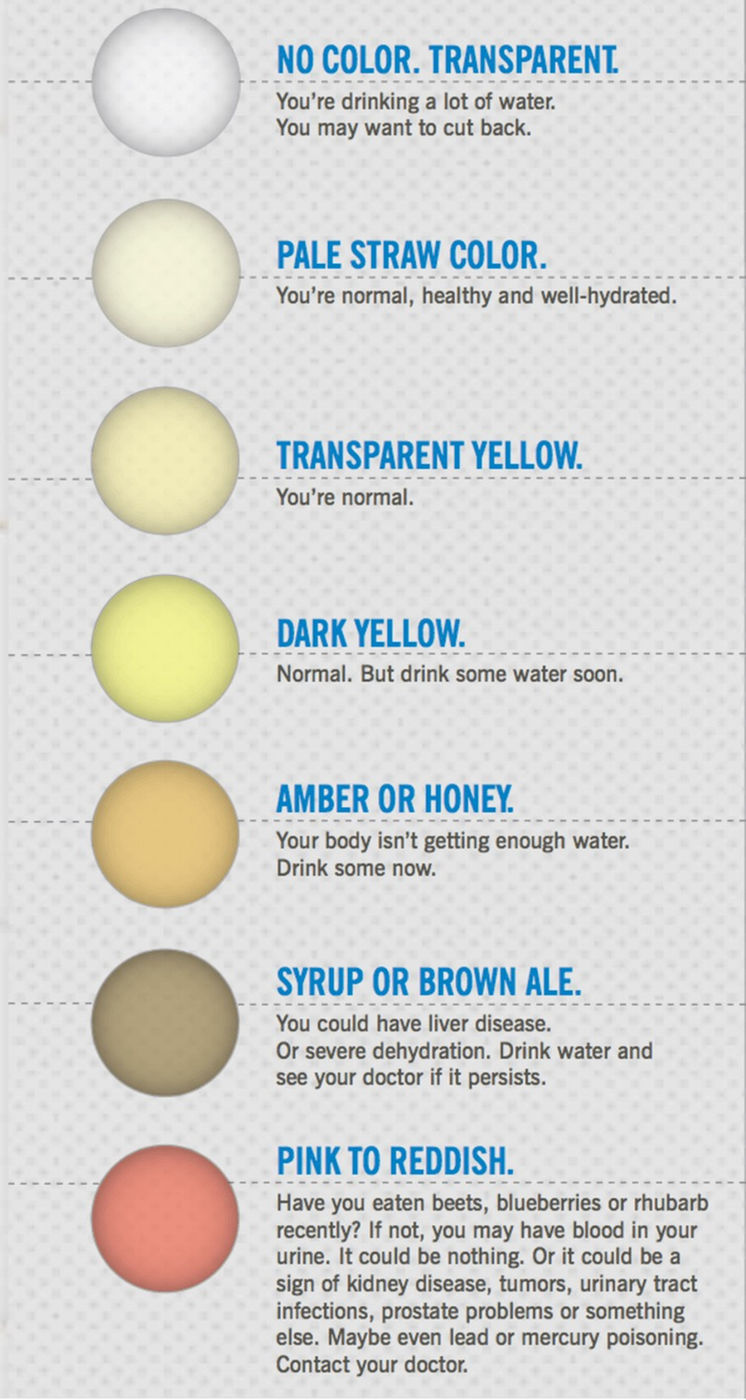 pee color says about health