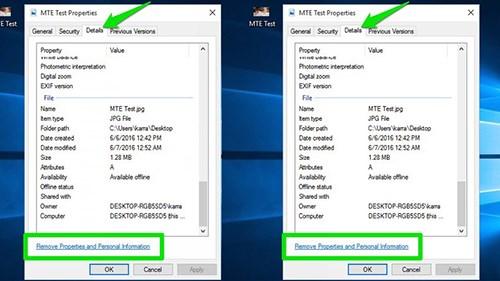 Windows 10: Gỡ siêu dữ liệu trong ảnh chụpÀnh chụp từ camera hoặc smartphone luôn đính kèm siêu dữ liệu Exchangeable Image File - EXIF