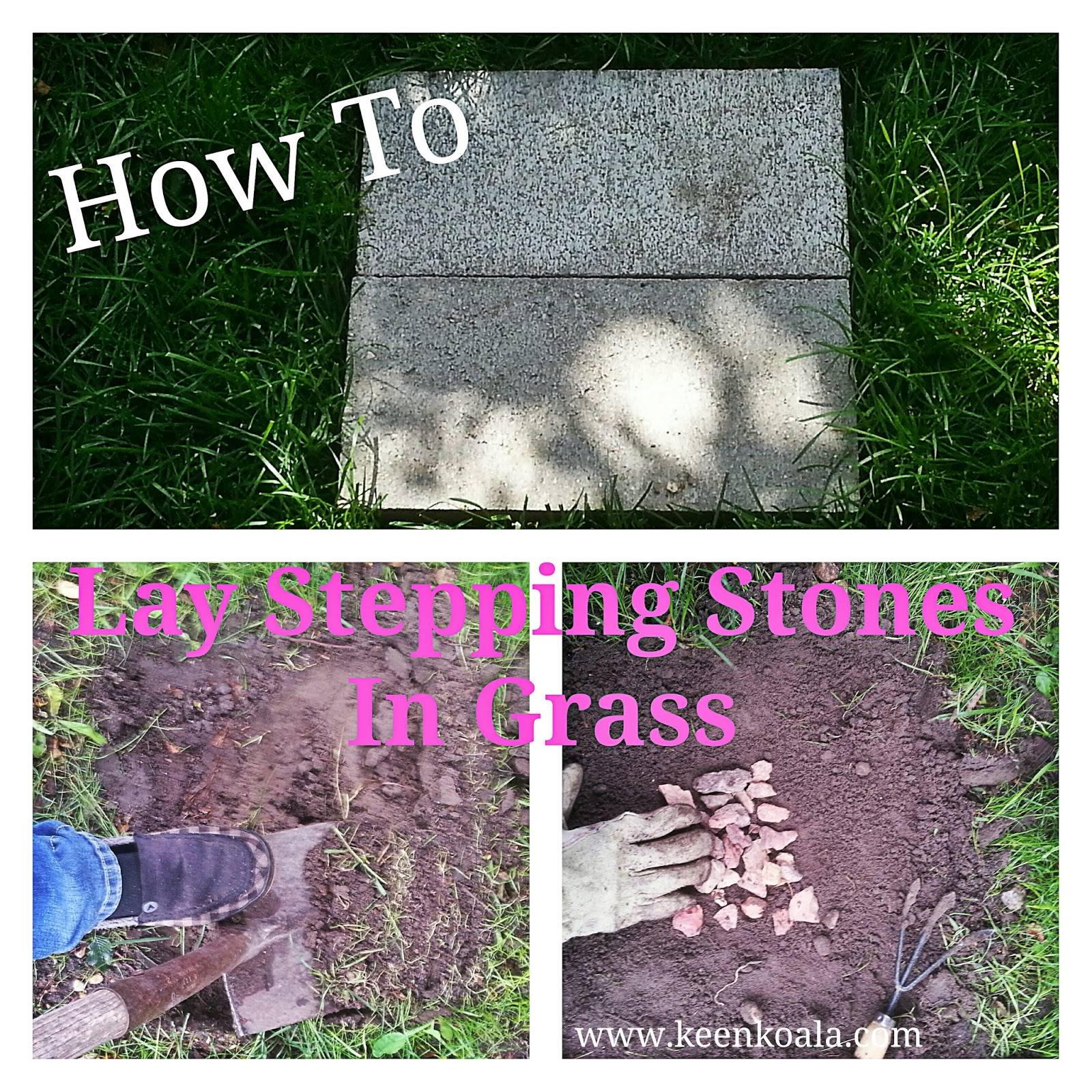 Well I Hope This Inspires You To Get Out And Put A Pretty Trail Of Stepping Stones In Your Lawn Have Ever Laid Pavers Gr