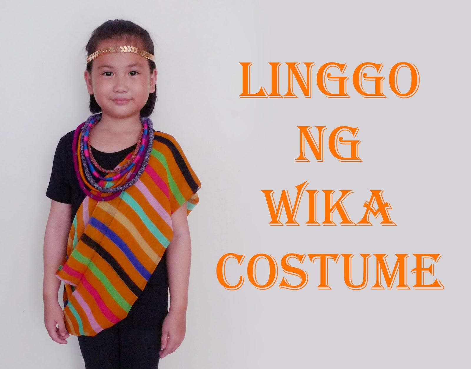 MrsMommyHolic: DIY Linggo ng Wika costume