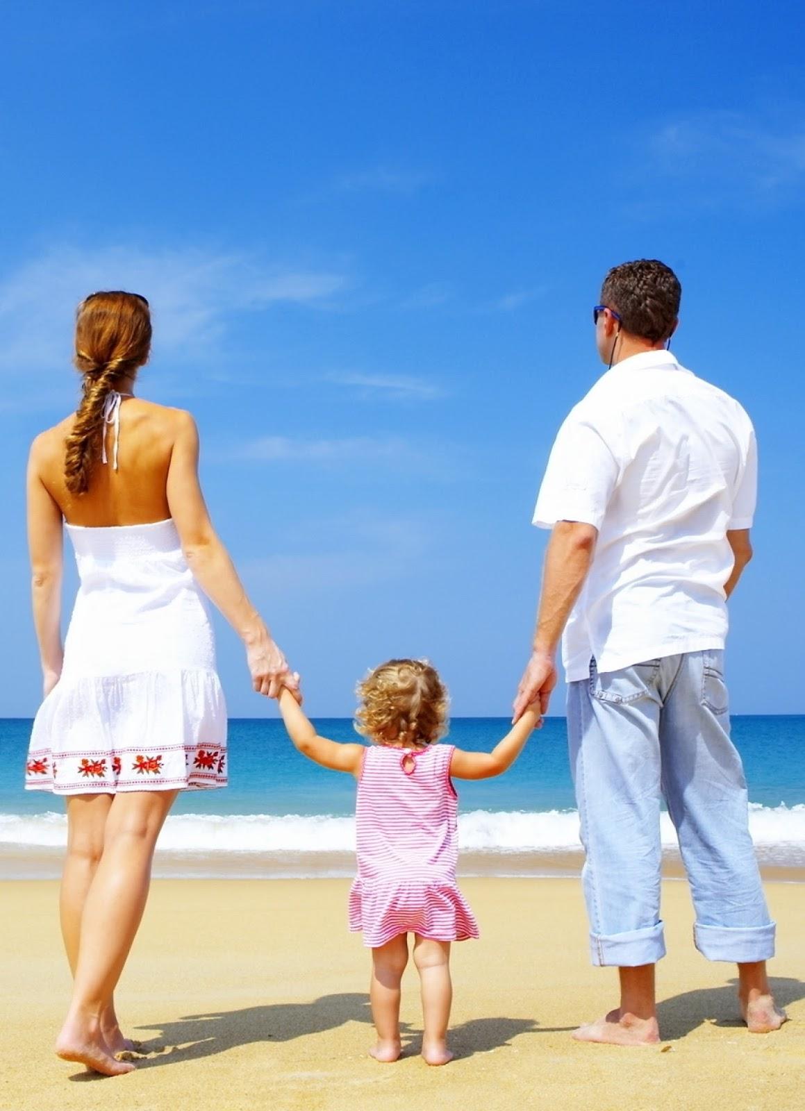 Family, Child, Sand, Beach, Sea, Happiness