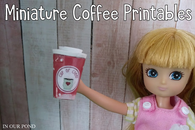 Doll Coffee Shop Printables from In Our Pond #barbie #elfontheshelf #miniature