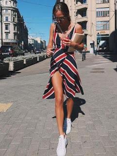 como usar vestido com tênis branco