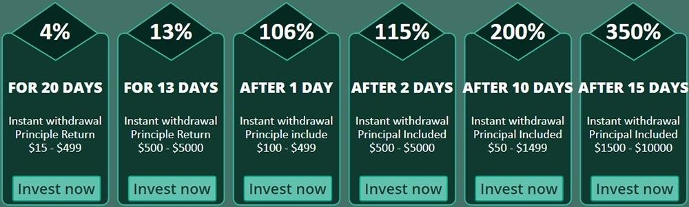 Инвестиционные планы MissionBux