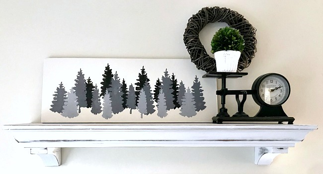 Shades of Grey Christmas Trees