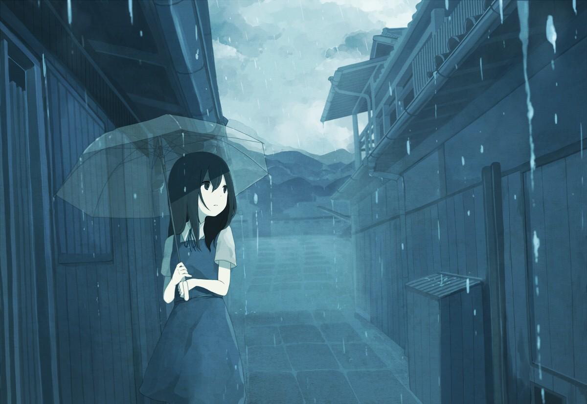 cô đơn trong mưa