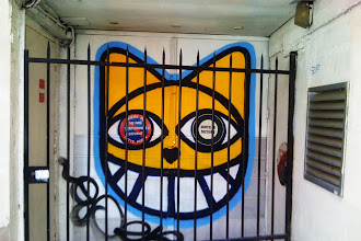 Sunday Street Art : Monsieur Chat - Café de la Gare - rue Pierre au Lard - Paris 4