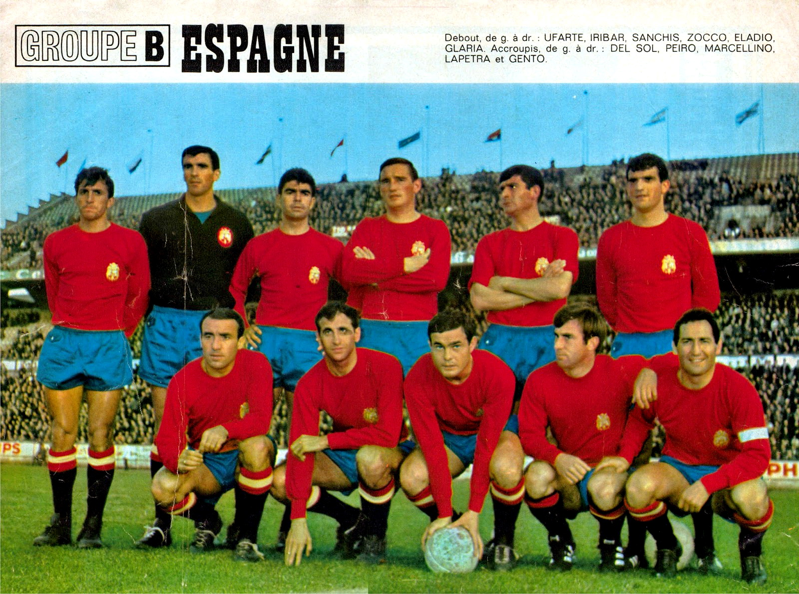 EQUIPOS DE FÚTBOL: SELECCIÓN DE ESPAÑA en la temporada 1965-66
