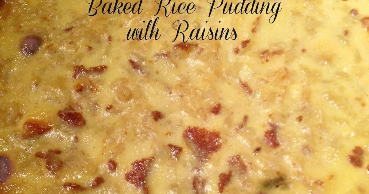 Sandra S Alaska Recipes Sandra S Baked Rice Pudding With