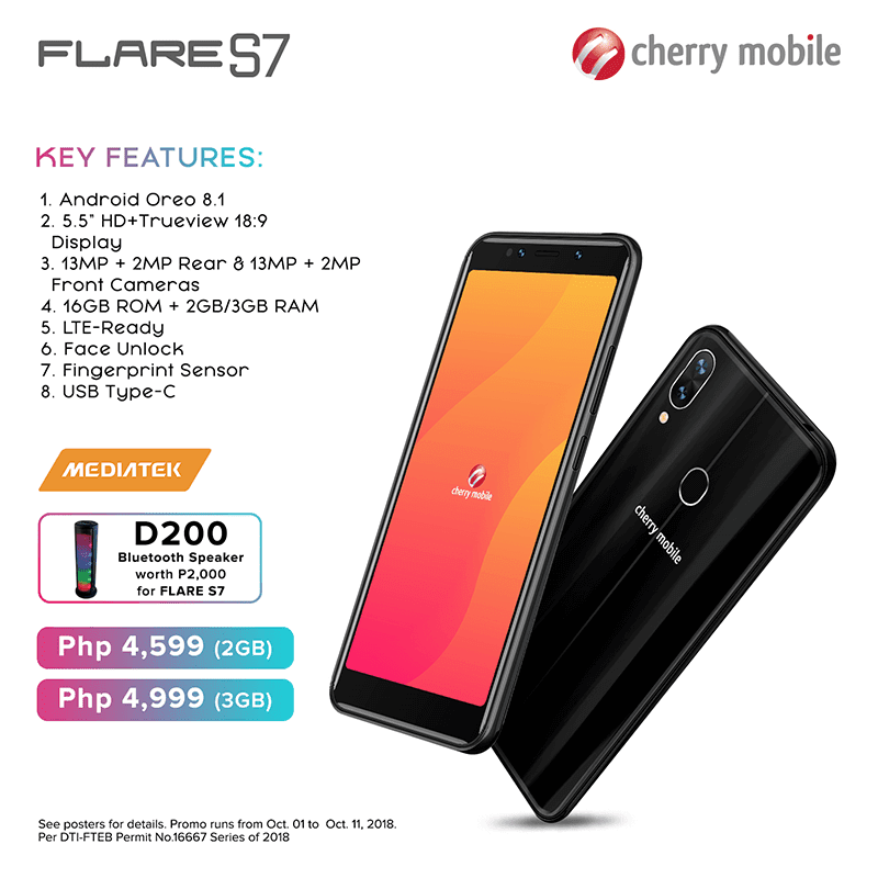 Specs of Flare S7