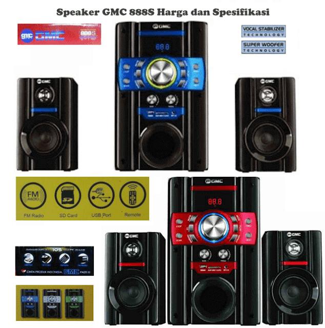 Speaker GMC 888R Aktif Harga dan Spesifikasi