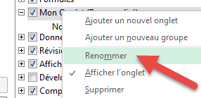 Renommer onglet bouton droit