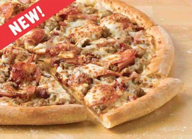 papa john s introduces new bbq meats pizza brand eating