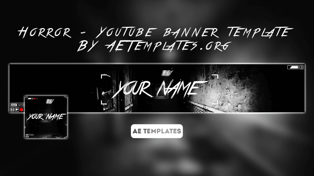Horror Youtube Banner Template Ae Templates