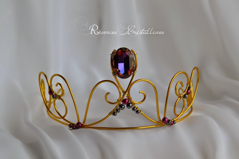 couronne fil d'aluminium doré