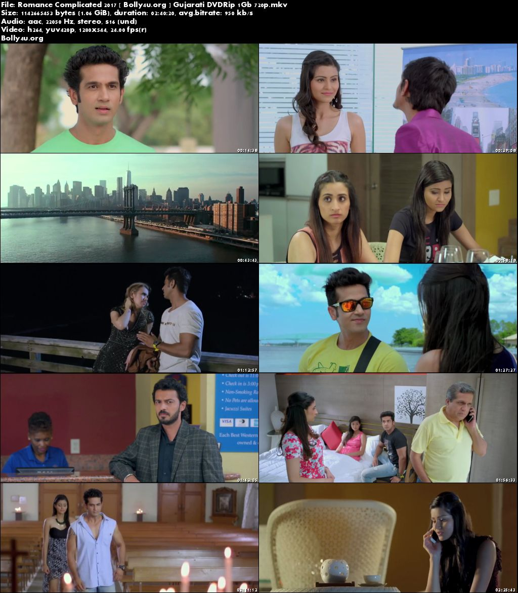 Romance Complicated 2017 DVDRip 450MB Full Gujarati Movie Download 480p