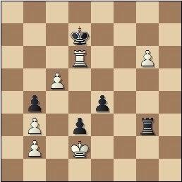 Partida de ajedrez Rico - Prins, posición después de 52.Td6+