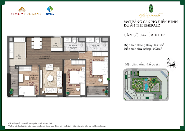 Thiết kế căn 04 tòa E1 - E2