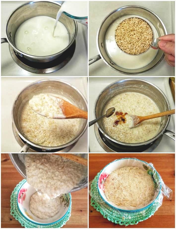 Paso a paso elaboracion del dulce de arroz con leche