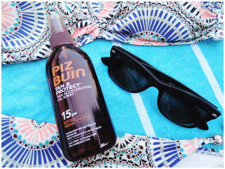 beauty | essentials | sunscreen products | piz buin tan & protect tan accelerating oil spray | more details on my blog http://junegold.blogspot.de | life & style diary from hamburg | #beauty #sunscreen #pizbuin