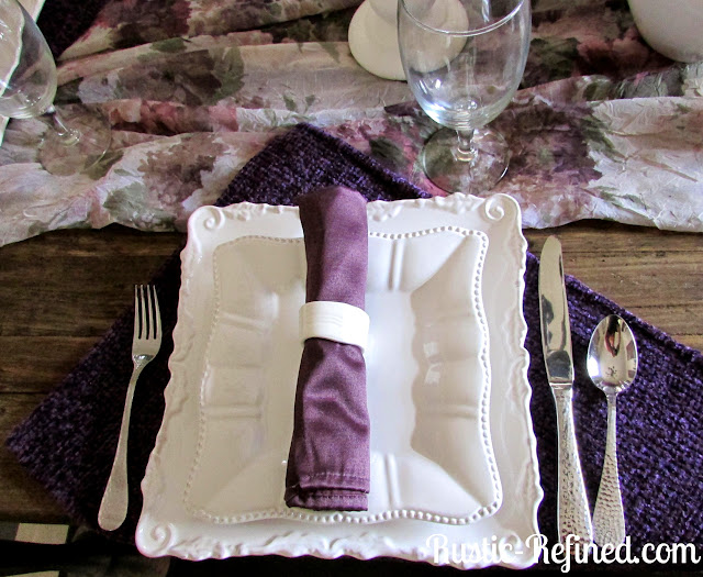 Purple Pinch Tuesday Tablescape