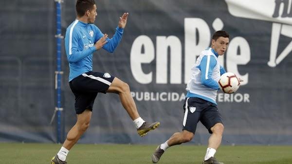 Málaga, entrenamiento de finalización de jugadas hoy jueves